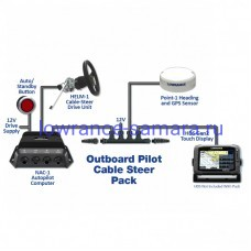 Lowrance LOWRANCE OUTBOARD PILOT CABLESTEER PACK